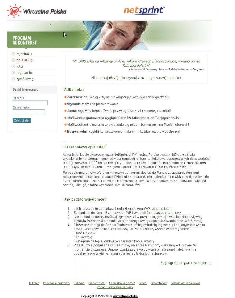 strona główna serwisu AdKontekst
