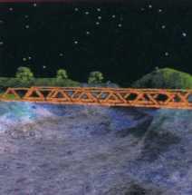 Z alpha blendingiem - powierzchnia wody jest przezroczysta
