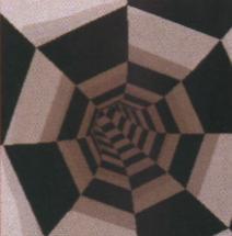Bez ditheringu - na szarych powierzchniach zbyt wyraźnie widać przejścia barw