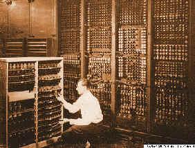 Wymiana uszkodzonego panelu komputera ENIAC