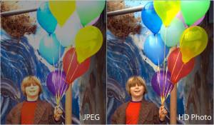 Porównanie JPEG i HD Photo z HDR (źródło Microsoft)
