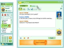 Okno komunikatora ICQ