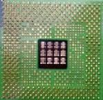 Zdjęcie procesora Pentium 4 - widok z dołu