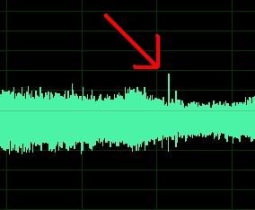Rys. 1 - Szum wentylatora widoczny na analizatorze widma