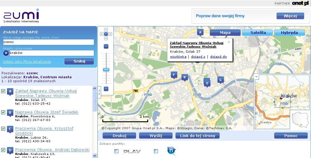 Lokalizator internetowy Zumi.pl